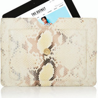 Capulet London Olivia snake-effect leather iPad clutch – 55% at THE OUTNET.COM