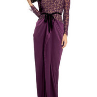 Roland Mouret Kordel lace and textured silk-satin gown – 69% at THE OUTNET.COM
