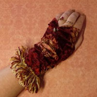 Bohemian Paisley Velvet Parlor Slipper Chair Gloves by SavoyFaire