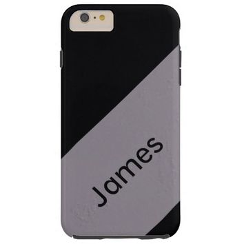 Black and Gray Stripes Pattern Plus Personalize