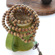 Free Shipping - Tibetan Buddhism  Natural Green Sandalwood meditation yoga 108 Prayer Beads Mala