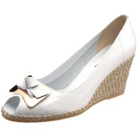 Sesto Meucci Women`s 1563 Open-Toe Espadrille,White,7 N US
