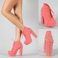 STUDDED PLATFORM BOOTIES more colors
