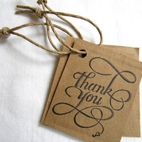 Upcycled Thank You Tags by JustAThoughtDesigns on Etsy