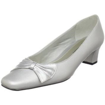 Easy Street Womens Chance Pump,Silver,7 W US