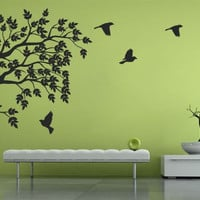 Floral Wall Decal - Floral with Birds
