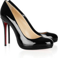 Christian Louboutin | Filo 120 patent-leather pumps | NET-A-PORTER.COM