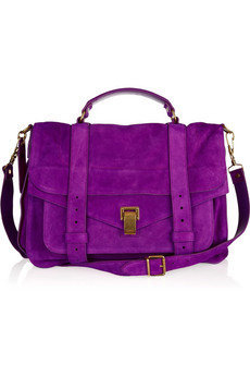 Proenza Schouler|PS1 Large suede satchel|NET-A-PORTER.COM