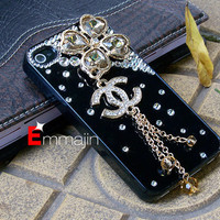 Black Iphone 4 case,Iphone 4s case,Iphone Coco chanel ,HTC ,Motorola,blackberry case
