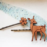 Hair Pin, Flower & Deer Set