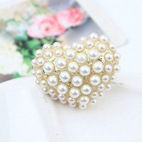 Pearl Heart Statement Ring | LilyFair Jewelry