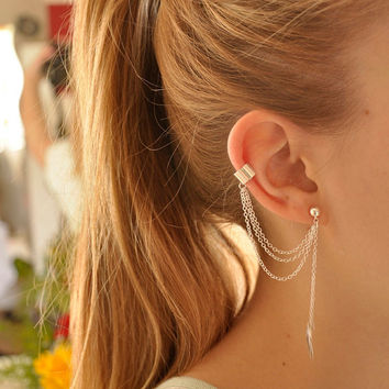 EAR CUFF - Simple Leaf Ear Cuff ( A2 )