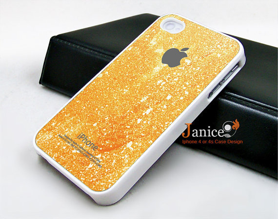iphone 4 case iphone 4s case iphone 4 cover  beautiful yellow  texture  colors unique Iphone case