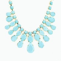 Waldorf Necklace in Blue - ShopSosie.com