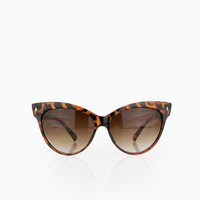Cat Eye Sunglasses in Tortoise - ShopSosie.com