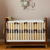 Retro Mushroom Crib Bedding Set by Litto Kids