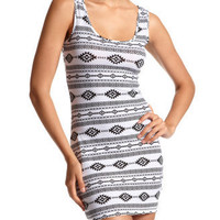 Aztec Print Cotton Tank Dress