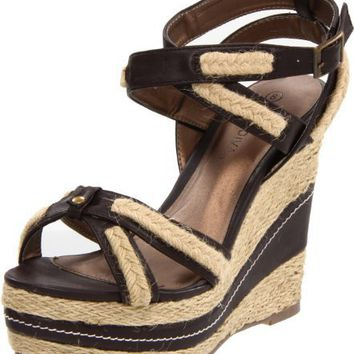 Wild Diva Women`s Maggie-17 Espadrille,Brown,6 M US