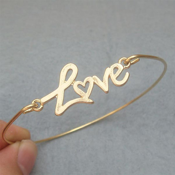 Love  Bangle Bracelet Style 5