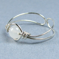 Sterling Silver Toe Ring 56 Choices Gemstone or Crystal