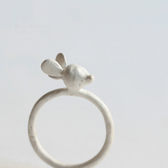 White Radish Ring Sterling Silver OOAK Vegetable T15