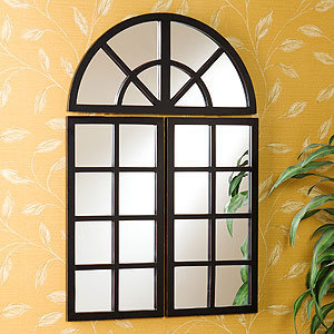 3-Piece Windowpane Mirror Set