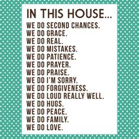 ponder this / new artwork for home: our house rules.