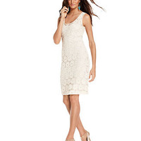 INC International Concepts Dress, Sleeveless Lace Sheath - Womens Dresses - Macy's