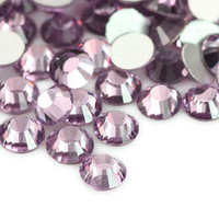 1440pcs Light Amethyst flat back crystal rhinestones 4mm ss16 No Hotfix
