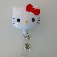 Hello Kitty Retractable ID Badge Holder Reel Landyard  on eBay!