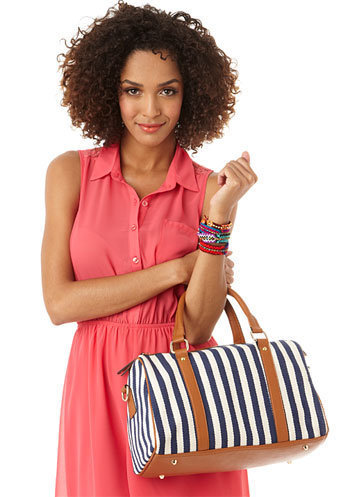 Alloy Nautical Striped Bag