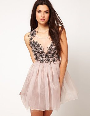Lipsy VIP Corsage Ballet Dress at asos.com