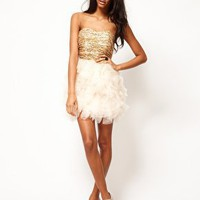 Opulence England Sequin Bandeau Ballerina Dress at asos.com
