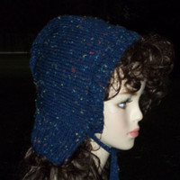 Hand Knit Hat Vermonter Barn Bonnet Hat