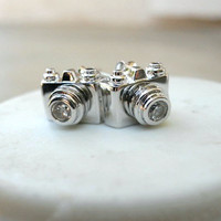 Click, Click Camera Studs [2510] - $9.00 : Vintage Inspired Clothing & Affordable Summer Dresses, deloom | Modern. Vintage. Crafted.