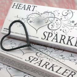 Heart Shaped Wedding Sparklers