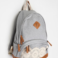 Kimchi Lace &amp; Jersey Backpack