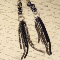Dangle 5 Inch Drop Wiggle Weave Chainmaille Earrings...SRAJD