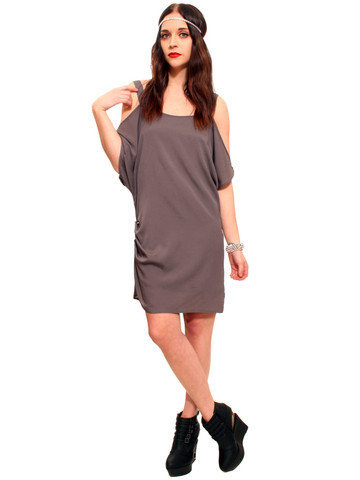 GYPSY WARRIOR - Silver Drape Sleeve Dress