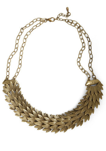 Golden Plumage Necklace | Mod Retro Vintage Necklaces | ModCloth.com