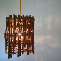 Hanging Twig Lamp