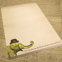Elephant Notepad Vintge Inspired Paper Goods