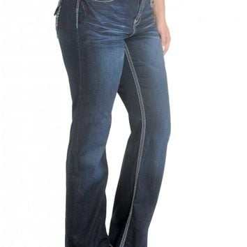 Plus Premium Gramercy Slim Boot- Low rise zip fly stretch jean Fitted through hip- thi