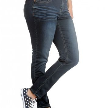 Plus Premium Gramercy Boot Cut- Low rise zip fly stretch jean Fitted through hip- thi