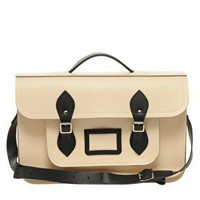 Cambridge Satchel Company 15&quot; Exclusive to Asos Contrast Trim Batchel at asos.com