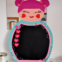 Large Kokeshi Doll Chalkboard on Luulla
