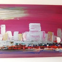 "QUADRI MODERNI ASTRATTI "" NEW YORK "" SANADER ART "" DIPINTO A MANO from the shop sanaderart  - arte - pittura - dipinti originali -  on  ulaola.com"