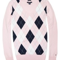Tommy Hilfiger Women Logo V-Neck Sweater Pullover