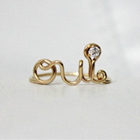 OUI Ring 14K Gold Filled - with CZ