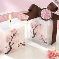Mini Cherry Blossom Pillar Candles